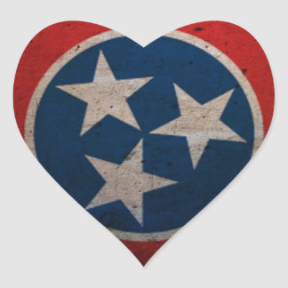 Tennessee State Flag Heart Sticker