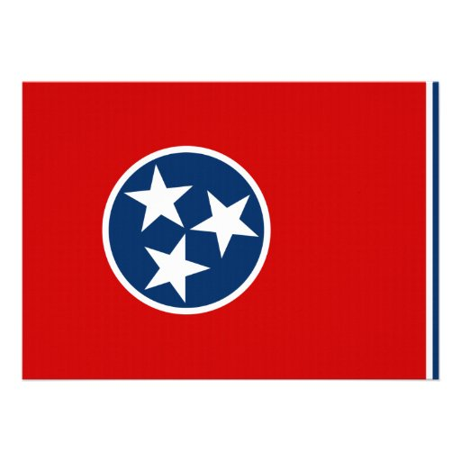 Tennessee State Flag Personalized Invites