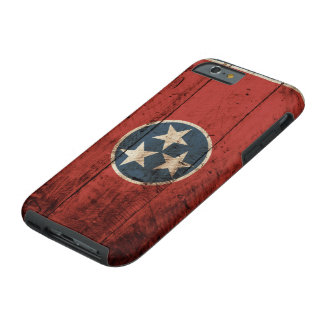Tennessee State Flag on Old Wood Grain Tough iPhone 6 Case
