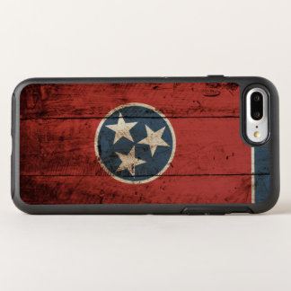 Tennessee State Flag on Old Wood Grain OtterBox Symmetry iPhone 7 Plus Case