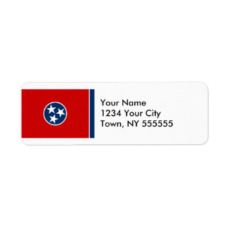 Tennessee State Flag Return Address Label