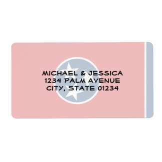 Tennessee State Flag Shipping Label