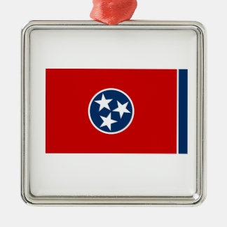 Tennessee State Flag Silver-Colored Square Decoration