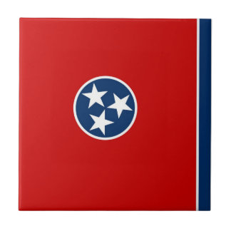 Tennessee State Flag Small Square Tile