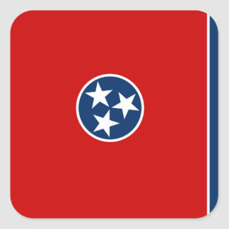 Tennessee State Flag Square Sticker