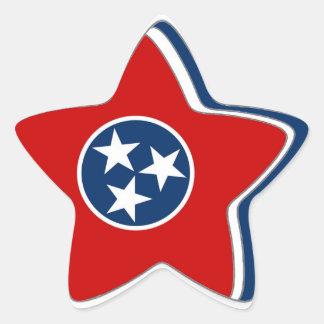 Tennessee State Flag Star Sticker