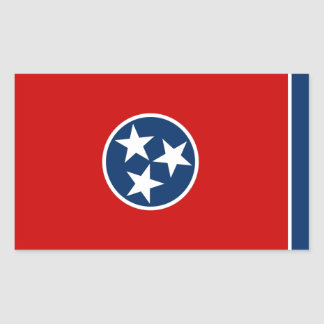 Tennessee State Flag Rectangle Sticker