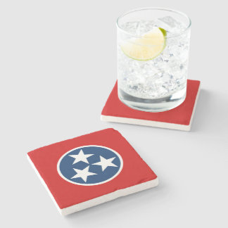 Tennessee State Flag Stone Coaster