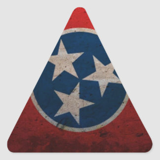 Tennessee State Flag Triangle Sticker