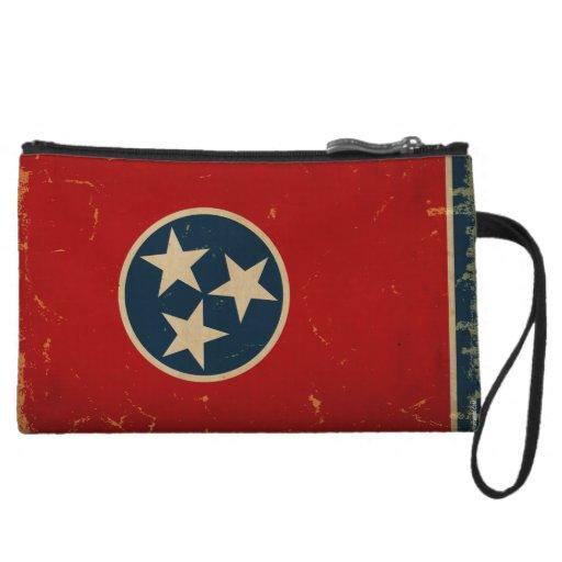 Tennessee State Flag VINTAGE Wristlet Purse