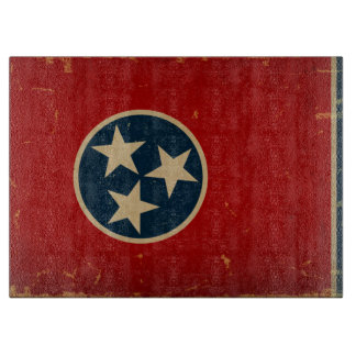 Tennessee State Flag VINTAGE Cutting Board