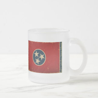 Tennessee State Flag VINTAGE Frosted Glass Mug