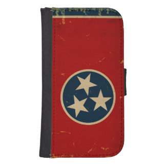 Tennessee State Flag VINTAGE Galaxy S4 Wallet Cases