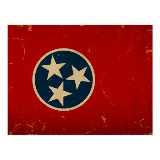 Tennessee State Flag VINTAGE Postcard