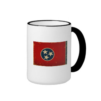 Tennessee State Flag VINTAGE Ringer Mug