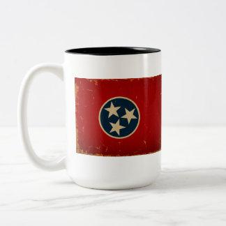 Tennessee State Flag VINTAGE Two-Tone Mug