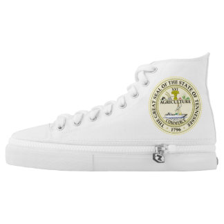 Tennessee state seal america republic symbol flag printed shoes