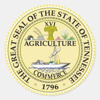 Tennessee state seal america republic symbol flag round sticker