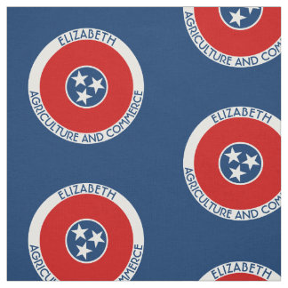Tennessee The Volunteer State Personalized Flag Fabric