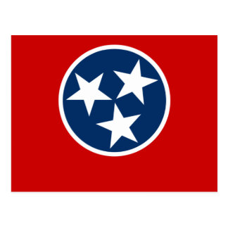 Tennessee, United States flag Post Cards