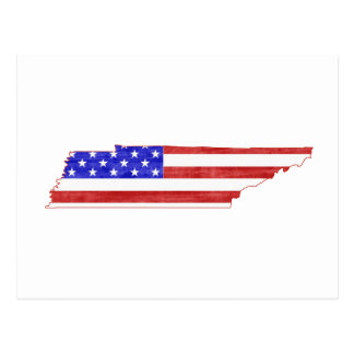 Tennessee USA flag silhouette state map Postcard