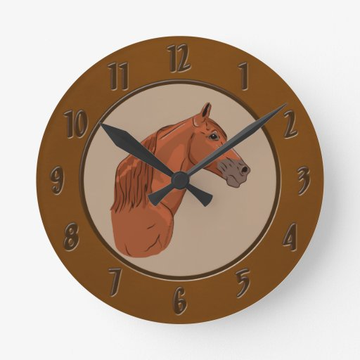Tennessee Walking Horse 1 Wall Clocks