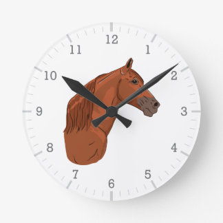 Tennessee Walking Horse 1 Round Clock