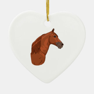 Tennessee Walking Horse 1 Ceramic Heart Decoration