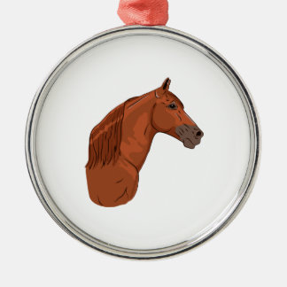 Tennessee Walking Horse 1 Silver-Colored Round Decoration