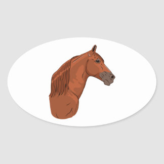 Tennessee Walking Horse 1 Oval Stickers
