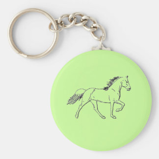 Tennessee Walking Horse Basic Round Button Key Ring