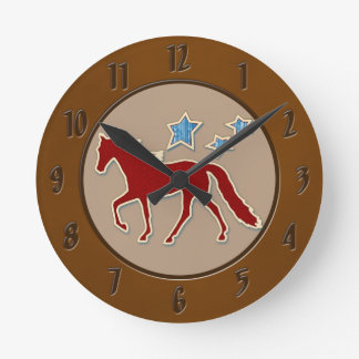 Tennessee Walking Horse Festive Stars Wall Clock