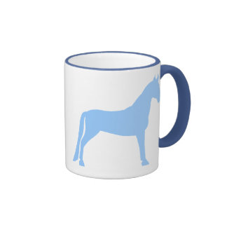 Tennessee Walking Horse (light blue) Ringer Mug