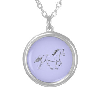 Tennessee Walking Horse Round Pendant Necklace