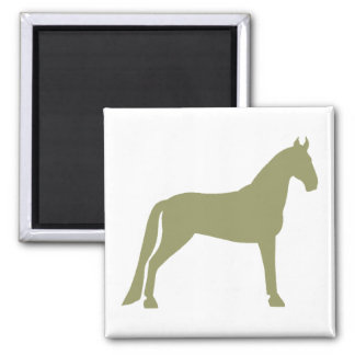 Tennessee Walking Horse (olive green) Square Magnet