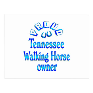 Tennessee Walking Horse Owner Post Card