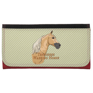 Tennessee Walking Horse Palomino Leather Wallet For Women