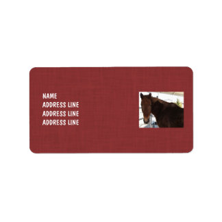 Tennessee Walking Horse Red Pattern - Western Address Label