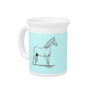 Tennessee Walking Horse - Standing Beverage Pitcher