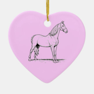 Tennessee Walking Horse - Standing Ceramic Heart Decoration