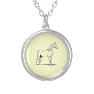 Tennessee Walking Horse - Standing Round Pendant Necklace