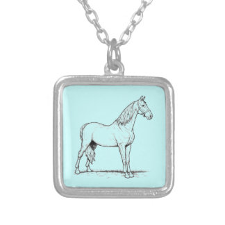 Tennessee Walking Horse - Standing Silver Plated Necklace