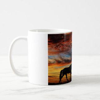 Tennessee Walking Horse Sunset Silhouette Basic White Mug