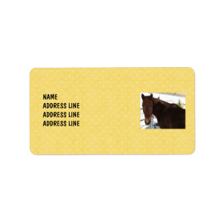 Tennessee Walking Horse Yellow Pattern - Western Address Label