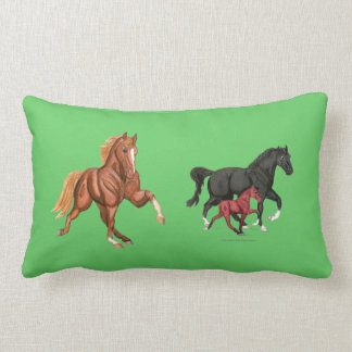Tennessee Walking Horses Lumbar Pillow Throw Cushions