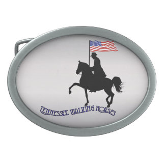 Tennessee Walking Horses Oval Belt Buckles