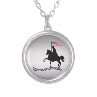 Tennessee Walking Horses Round Pendant Necklace