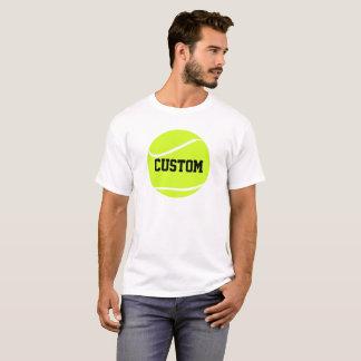 Tennis Ball and Text Men's Basic White T-shirt