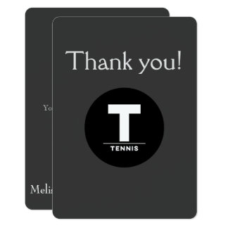 TENNIS B'NOT B'NAI BAR BAT MITZVAH THANK YOU CARD
