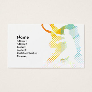TENNIS BUSINESS CARD FOR TOURNAMENT TRAINER COACH